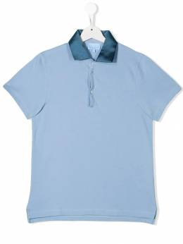 Lanvin Enfant рубашка с контрастным воротником 4K8001KA080607