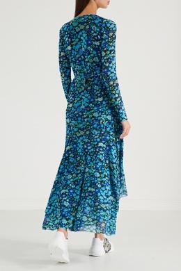 Платье-макси с цветочным рисунком Ganni 2979151810