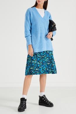 Пуловер голубого цвета Ganni 2979151806