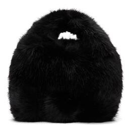 Comme Des Garcons Girl Black Faux-Fur Bag 192670F04900101GB