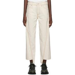 Lanvin Off-White Asymmetric Jeans 192254F06900102GB