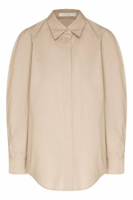 Базовая рубашка серо-коричневого оттенка Low Classic 1408151385