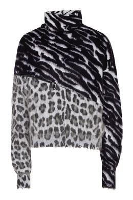 Комбинированный свитер с молнией Unravel Project 2852151891