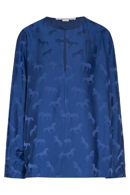 Синяя блузка с рисунком Stella McCartney 193152758