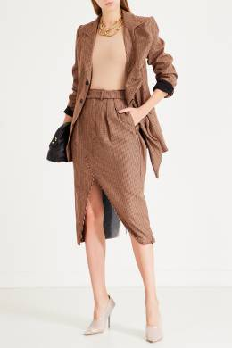 Комбинированная юбка-карандаш с разрезом спереди Unravel Project 2852151877