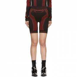 Misbhv SSENSE Exclusive Black and Red Active Shorts 192937F08800601GB