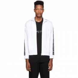 Givenchy White Logo Tape Zip-Up Jacket 192278M20201806GB