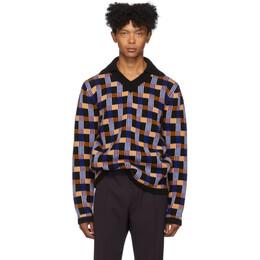 Joseph Black and Multicolor Check Sweater 192936M21200302GB