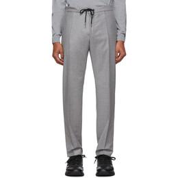 Boss Light Grey Banks Travel Trousers 192085M19103005GB