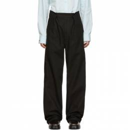 Raf Simons Black Twill Wide Fit Trousers 192287M19101203GB