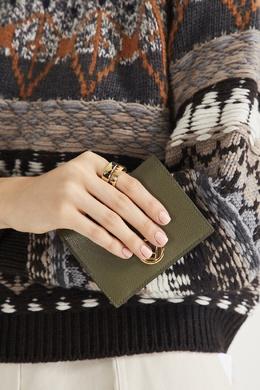 Позолоченное кольцо с фирменной отделкой Fendi 1632153009
