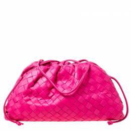 Bottega Veneta Pink Intrecciato Leather Pouch Bag 225890
