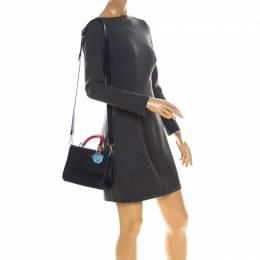 Dior Blue/Red Leather Be Dior Shoulder Bag 225266