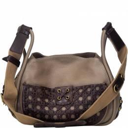 Dior Brown Leather Shoulder Bag 225085