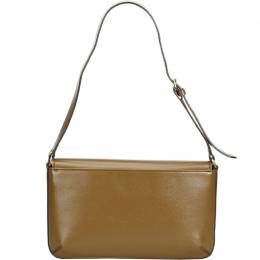 Burberry Brown Leather Baguette Bag 224693