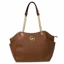 MICHAEL Michael Kors Tan Leather Jet Set Chain Shoulder Bag 225624