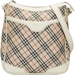 Burberry White/Beige Nova Check Canvas Crossbody Bag 225751