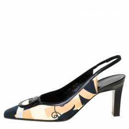 Salvatore Ferragamo Multicolor Satin Slingback Sandals Size 37 226187