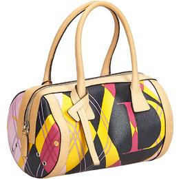 Dior Multicolor Printed Coated Canvas Boston Bag 224826
