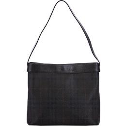 Burberry Brown Haymarket Check Coated Canvas Shoulder Bag 225386