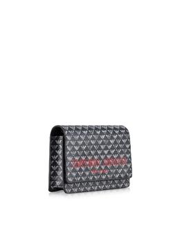 Маленькая Двухцветная Сумка на Плечо с Клапаном Emporio Armani Y3B086 YFG6A 83939 BLU/ECRU/NERO