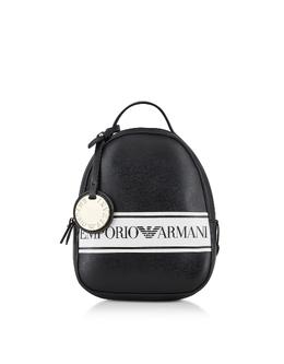Черно-белый Рюкзак Emporio Armani Y3L036 YFG7A 88007 NERO/BIANCO