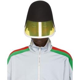 Gucci Black and Yellow Felt Visor Cap 590051 3HI36