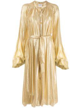 Forte Forte - платье-рубашка с эффектом металлик 8MYDRESS959399660000
