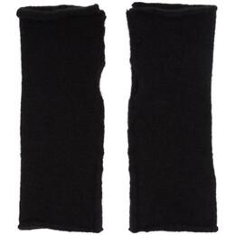 Isabel Benenato Black Wool and Yak Fingerless Gloves 192732M13500101GB