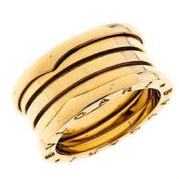 Bvlgari B.Zero1 4-Band 18k Yellow Gold Ring Size 59 227317