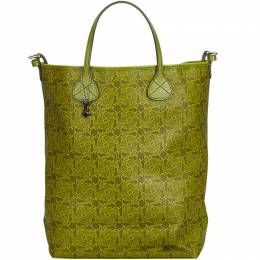 Celine Green Printed PVC Tote Bag 222479