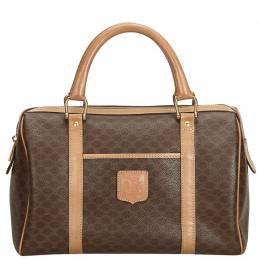 Celine Brown PVC Macadam Boston Bag 215857