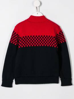 Paul Smith Junior - check patterned colour block cardigan 85805909550650900000