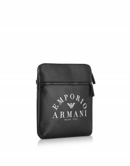 Большая Фирменная Мужская Сумка Через Плечо Emporio Armani Y4M184 YFE5J 83896 BLACK