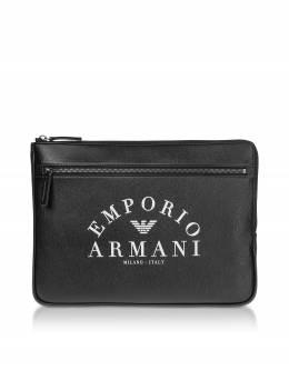 Черная Плоская Папка Emporio Armani Y4P101 YFE5J 83896 BLACK