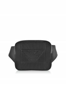 Фирменная Мужская Поясная Сумка Emporio Armani Y4O216 YMI9V 81073 BLACK/BLACK