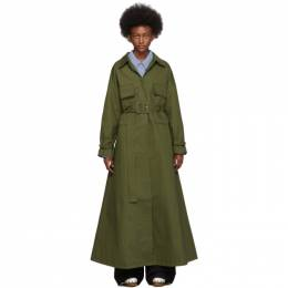 Jacquemus Khaki Le Manteau Thika Coat 192553F05900103GB