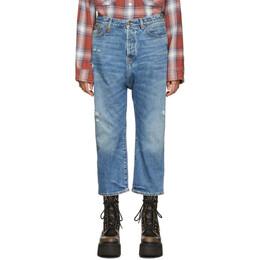 R13 Blue Tailored Drop Jeans 192021F06901902GB
