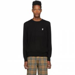 Burberry Black Merino Declan Crewneck Sweater 192376M20100903GB