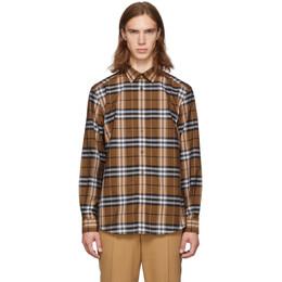Burberry Orange Check Caxton Shirt 192376M19204202GB
