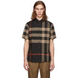 Burberry Black Check Somerton Shirt 192376M19204103GB