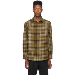 Burberry Tan Check Flannel Chambers Shirt 192376M19204907GB