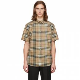 Burberry Beige Check Caxton Shirt 192376M19204004GB