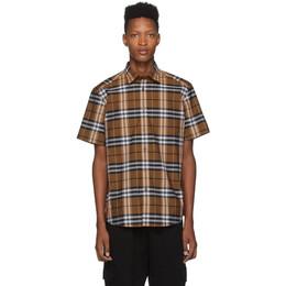 Burberry Orange Check Caxton Shirt 192376M19204602GB