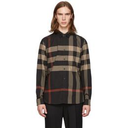 Burberry Black Check Somerton Shirt 192376M19204308GB