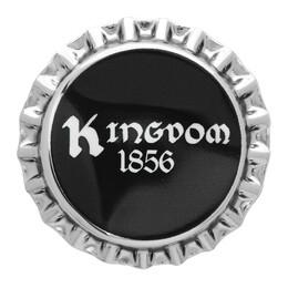 Burberry Silver and Black Bauhaus Bottle Cap Pin 192376M14600201GB
