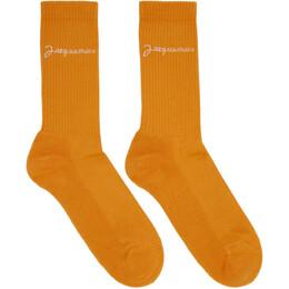 Jacquemus Orange Les Chaussettes Meunier Socks 192553M22000102GB