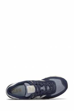 Синие кроссовки с контрастными вставками New Balance 433153073
