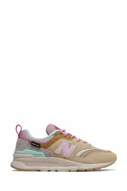Бежевые комбинированные кроссовки New Balance 433153059