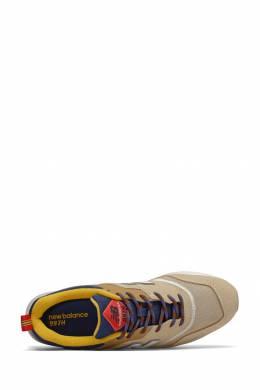 Бежевые кроссовки с контрастными вставками New Balance 433153027